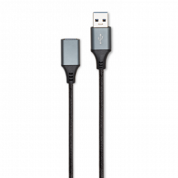 RALLONGE USB 2.0 A/A M/F NYLON NOIR 3M