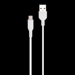 CORDON USB-A/LIGHTNING MFI M/M BLANC 1M